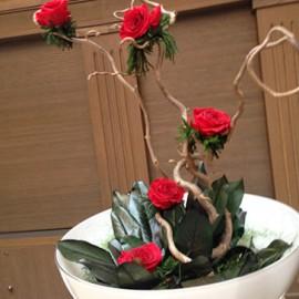 Composizione Rose Stabilizzate rami