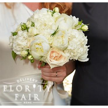 Bouquet Sposa Peonie E Ortensie.Bouquet Rose Peonie E Ortensie Flority Fair