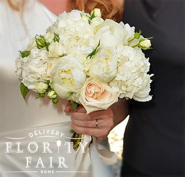 Bouquet Sposa Rose E Ortensie.Bouquet Rose Peonie E Ortensie Flority Fair