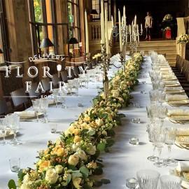 Festone floreale tavolo imperiale