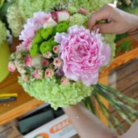 Bouquet Peonie Ortensie e Garofani