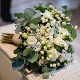 Bouquet bouvardia e mughetto