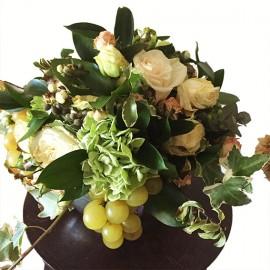 Centrotavola Uva, Rose e Bacche