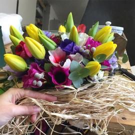 Composizione Anemoni e Tulipani