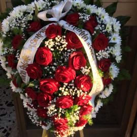 Cuore di Rose o Fresie per Funerali