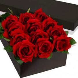 Composizione Scatola Rose Stabilizzate