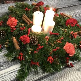 Corso online - Centrotavola natalizio