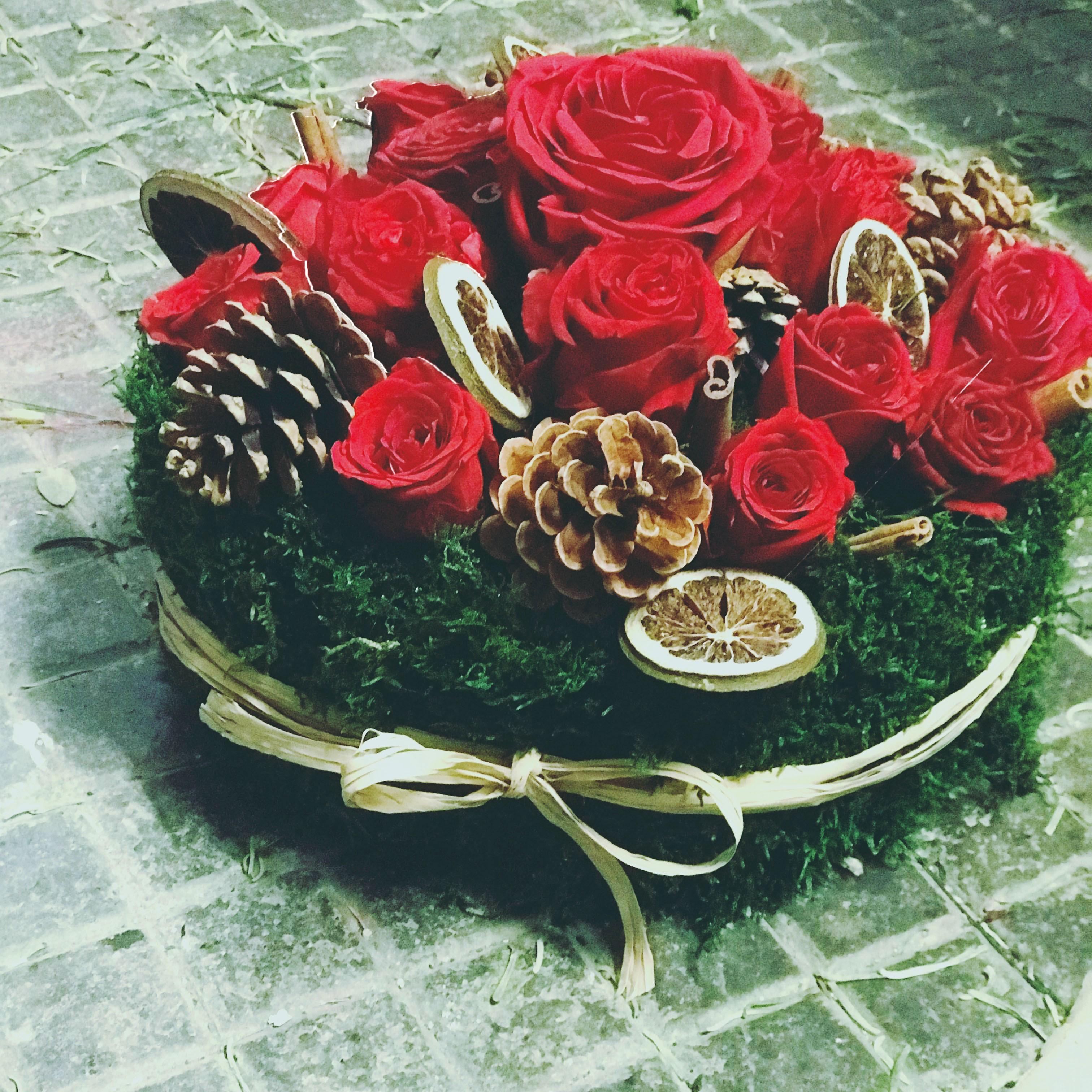 Centrotavola inverno rose stabilizzate